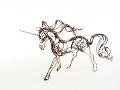Wire Unicorn  Metal sculpture  Wire sculpture  by UrsulaJewelry, $150.00