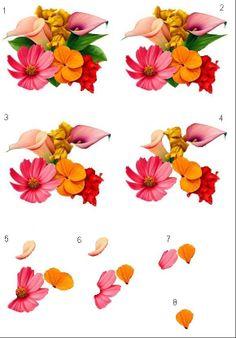 3d decoupage photo: Summer Bouquet 3D Sheet mixflowers.jpg