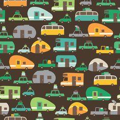 Traveling_brown fabric by stacyiesthsu on Spoonflower - custom fabric