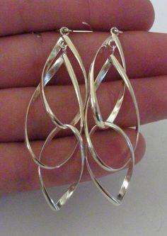 Sterling Silver Dangle Earrings 6 Grams by onetime on Etsy, $6.25