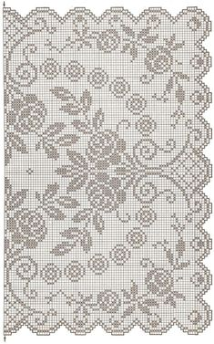 This Pin was discovered by Tat Crochet Patterns Filet, Crochet Doily Diagram, Funny Cross Stitch Patterns, Crochet Motif, Crochet Cross, Crochet Doilies, Crochet Curtains, Crochet Tablecloth, Crochet Table Runner