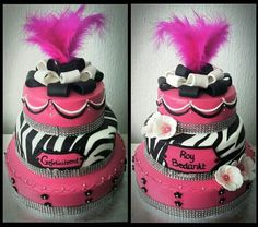 Fabulous hotpink zebra cake