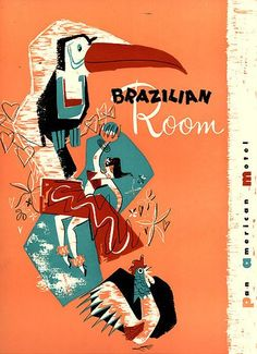 Vintage menu for the Brazilian Room.