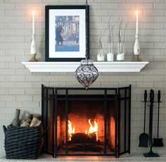 Winter is coming, and we already see its icy touches, and the most far-seeing of us are already thinking of winter mantle décor. Mantle gives the tone to Winter Decor, Cozy Decor, Home And Living, Decor, White Mantle, Mantle Decor, Home Comforts, Winter Mantle, Home Decor