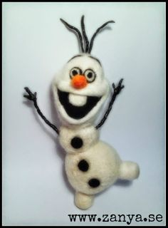 Needle felted Olaf from Frozen =) www.zanya.se