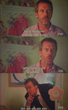 House and Wilson Greys Anatomy, Grey Anatomy Quotes, Tv Quotes, Movie Quotes, Funny Quotes, House And Wilson, House Md Quotes, Everybody Lies, Robert Sean Leonard