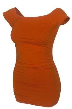 University Co-op Online | Ladies Texas Orange Ruched Top