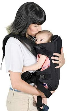 FEEMOM Baby Carriers Front and Back for Newborn to Toddler's Infant Carrier with Hip Seat —— Baby Carrier with Hood for Boy and Girl Black : Baby