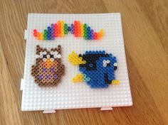 Hama bead creations (mustache, owl and Dory) by Isabella Byrne