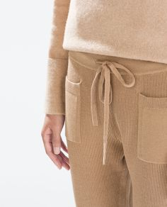 Image 4 of RIBBED KNIT TROUSERS from Zara