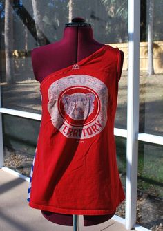 7b965a5f7ca Chicago Cubs Upcycled One Shoulder Shirt XS