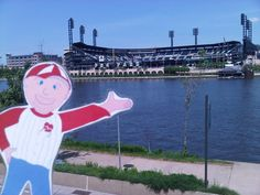 Flat Bob at PNC Park!  Help us raise awareness of SADS conditions and save young lives!  www.StopSADS.org/flat-bob