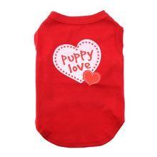 Dog Tank Pink Metallic Heart Shirt Tee Foil Love Ribbed Cotton High-Cut Belly