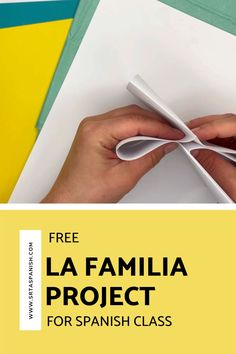 Family words are one of those things everyone has to cover, whether you teach with a textbook or not. Here's a quick idea for practicing la familia vocabulary! Check out this FREE download for a final project, test, assessment, or just a review of family vocabulary for your unit! Spanish Classroom, Teaching Spanish, Class Activities, Family Activities, Sentence Prompts, Middle School Spanish, Spanish Lesson Plans, Spanish 1, Personal History