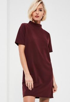 Wrap up for the 'ber months in this shift dress - featuring a boxy shift style, scuba fabric and a new season high neck to stay warm whilst looking chill. Dresses Uk, Cute Dresses, Dresses Online, Fashion Dresses, Prom Dresses, Summer Dresses, Formal Dresses, Latest Dress, New Dress