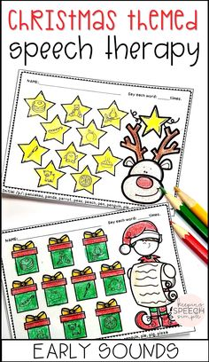 These adorable NO PREP speech therapy worksheets are a must have time saver for the busy holidays. Targets include early sounds: p, b, m, t, d, h, y and w. All targets are picture supported for your non-readers making this resource ideal for preschool, kindergarten and early elementary students. Use these Christmas activities in your speech room or send home for home reinforcement with families. Click here to see more of this effective resource!