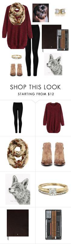 """Sketching in the park..."" by j-murphy-1 ❤ liked on Polyvore featuring Wolford, H by Hudson, Vintage and Montblanc"