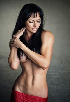 Topless female russian muscle think, that