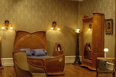 Louis Majorelle - art nouveau bedroom furniture