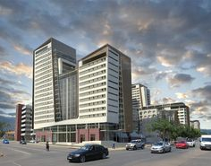 Proposal of changing the face of Hatfield. Rendered by ARC Architects Pretoria. Mixed Use Development, Architectural Services, Pretoria, Proposal, Architects, Skyscraper, Multi Story Building, City, Face
