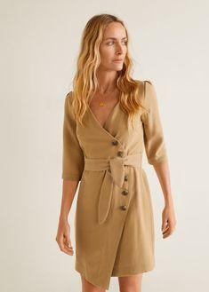 ffacc301d5e2 Buttoned wrap dress - Women. HverdagskjolerKorte Kjoler MangaStorbritannienUsaMode ...