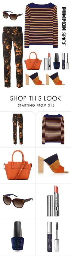 """pumpkin spice"" by im-karla-with-a-k ❤ liked on Polyvore featuring Versus, M.i.h Jeans, Elaine Turner, Gianvito Rossi, Tory Burch, By Terry, OPI and Real Purity"
