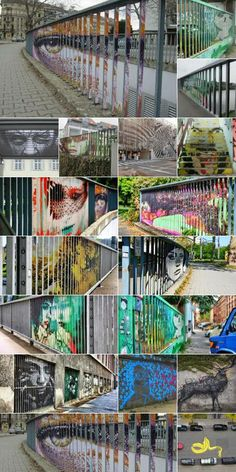 Hidden German Street Art Only Viewable From Certain Angle German street art duo create interactive viewing experience in public spaces.
