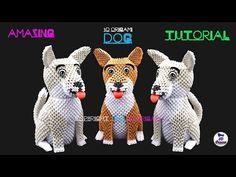 Origami dog tutorial Ideas for 2019 Origami 3d Dog, 3d Origami Swan, Kids Origami, Origami Dragon, Origami Paper Art, Origami Fish, Modular Origami, Useful Origami, Origami Animals