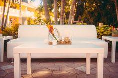 Lounge furniture rental at Marriott Marco Island Wedding