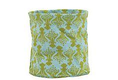Canvas Basket, Crete Blue  ROCKFLOWERPAPER $12