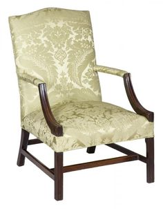 A George III, Chippendale Mahogany Library Chair, c.1800 | StanleyWeiss.com