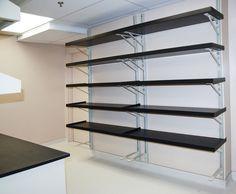 industrial wall mounted shelving wall mounted shelves pinterest rh pinterest com wall bracket shelf over desk for printer wall mounted bracket shelves