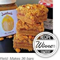 Justins Nut Butter - Recipes - Snacks - Honey Peanut Butter & Jelly Bars