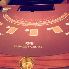 Don't forget to bring Lady Luck onboard. #blackjack #casino #PrincessCruises