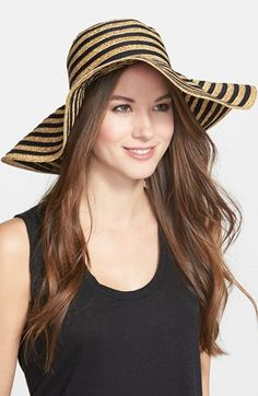 Free shipping and returns on August Hat 'Mix It Up' Floppy Straw Hat at Nordstrom.com. A crisp contrast ribbon traces the relaxed silhouette of a floppy straw hat that exemplifies laid-back sophistication.