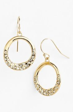 Free shipping and returns on Alexis Bittar 'Miss Havisham - Liquid' Drop Earrings at Nordstrom.com. Circular earrings are polished to a liquescent-like finish and inset with Swarovski-crystal pavé for a combined resplendent effect.