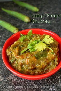 Indian Food and More..: Andhra Bendakaya Pachadi | Okra Tomato Chutney | Lady's Finger Chutney