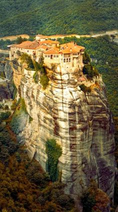 I would love to know how they built this...........Meteora Monastery in Greece
