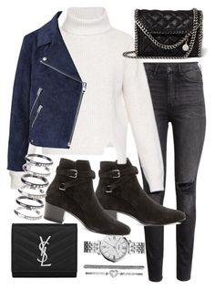 """""""Untitled #19383"""" by florencia95 ❤ liked on Polyvore featuring H&M, Yves Saint Laurent, FOSSIL, Proenza Schouler, STELLA McCARTNEY, Acne Studios and M.N.G"""