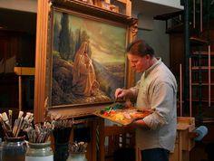 Greg Olsen Calendars   greg olsen works on a painting in his studio greg olsen