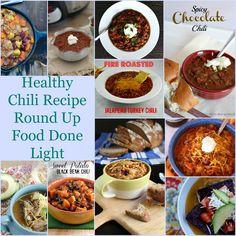 healthy chili recipe round up www.fooddonelight.com