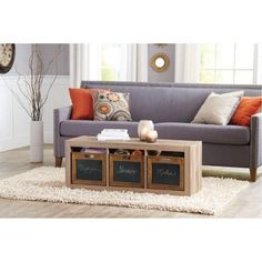 better homes and gardens wood decor crate walmartcom