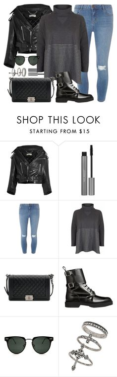"""Moto"" by monmondefou ❤ liked on Polyvore featuring Balenciaga, Dorothy Perkins, Chanel, Balmain, Spitfire, Miss Selfridge and black"