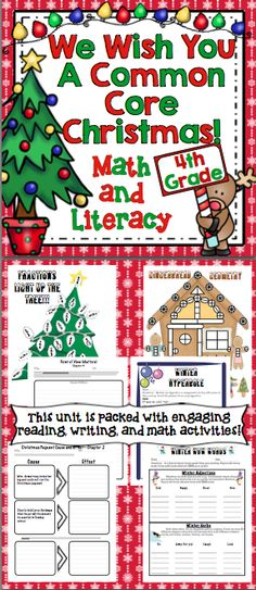 Christmas Math Worksheets For 4th Graders : Images about th grade common core on pinterest