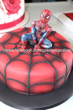 Spiderman cake more at https://www.facebook.com/zoesfancycakes