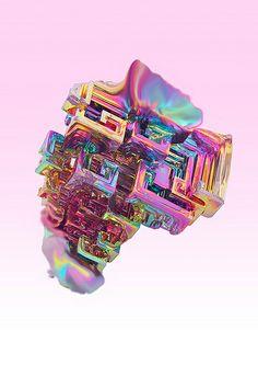 Bismuth. Manmade but still gorgeous.