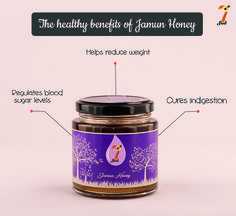 With so much goodness instilled in it, nobody can resist this tasty healthy honey. Buy your honeys from www.7seeds.in & start your healthy living today! #7SeedsHoney #JamunHoney #HealthyHoney #RegulatesBloodSugar #Indigestion #Weightloss #HealthBenefits #GoodnessOfJamun