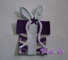 machine embroidery present