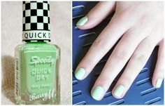 Manicure Monday Fresh Mint Green Nail Polish perfect for Spring from Barry M Cosmetics in the Speedy Collection from #beauty #blogger #youtuber http://chasingrubieschasingpearl.blogspot.ie