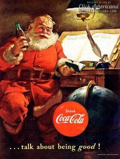 Vintage Coca-Cola Christmas ad, 1950's